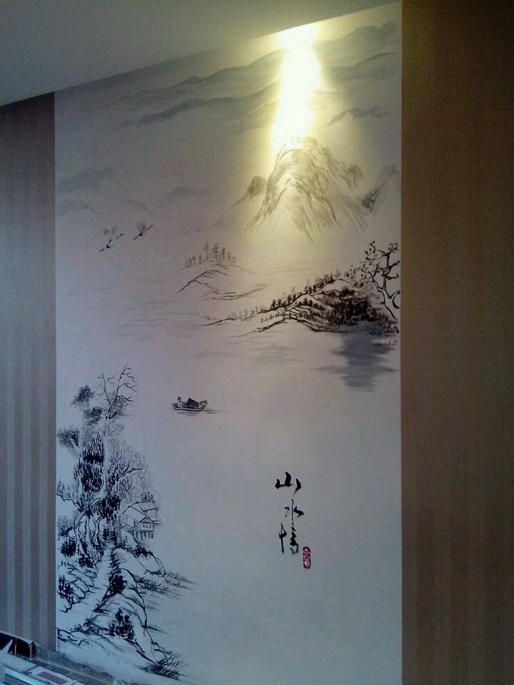 海鲜馆餐厅手绘墙