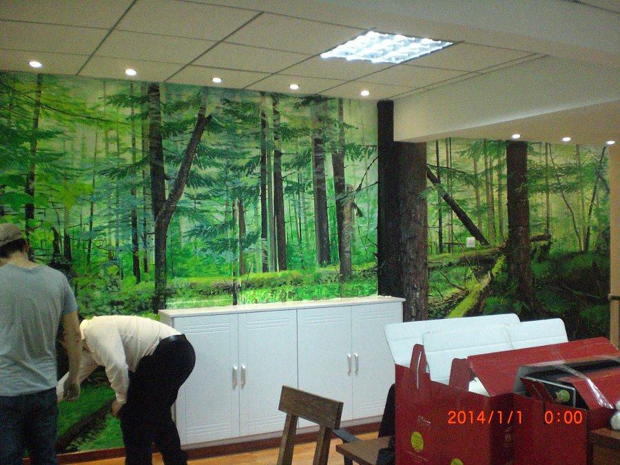 原始森林动物墙绘
