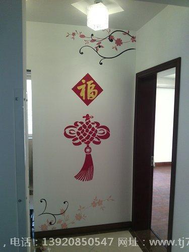 手绘墙中国结