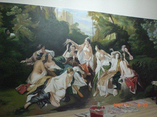 金帆酒店大堂欧式古典油画