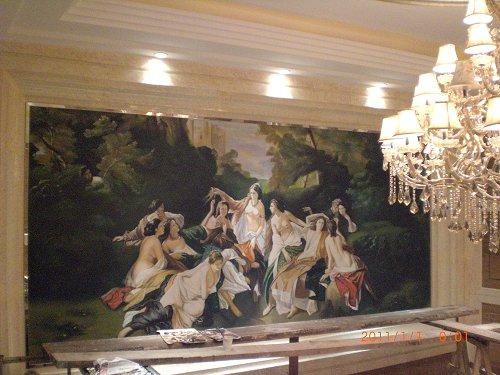 金帆酒店大堂欧式古典油画图片